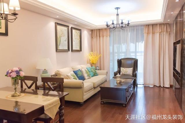 98平米美式三房,拆修太有品尝了!尤其是客厅,豪华大气!
