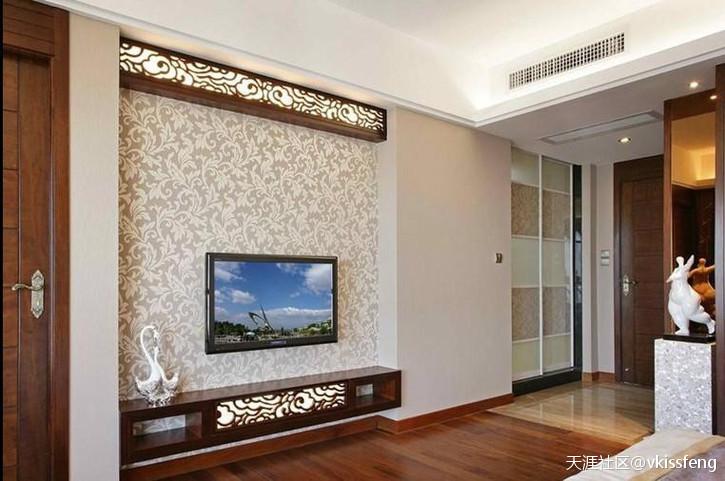 重庆中式气概客厅电视布景墙效果图和你应该留意那些事项